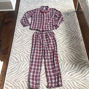 Boys gap Christmas pajamas 12 plaid